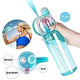HKTOPONE Botella de Agua 600 ml Botella de Agua Deportiva Azul Botella de Bebida para Ciclismo, conducción, Escalada y Mucho más ... (600ml, Azul)