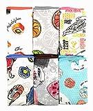 ZD Paños de Cocina 100% Microfibra con Dibujo Estampada,Multicolor,Pack 12 Toallas de Cocina