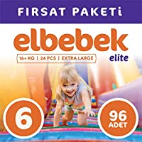 ELBEBEK ELİTE BEBEK BEZİ 6 NUMARA X LARGE 96 ADET