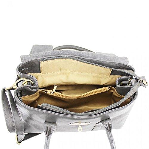 Leahward® Vera Pelle Da Donna Di Grandi Dimensioni Borse In Vera Pelle Borsa In Pelle Marina H37cm X L28cm X D13cm