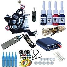 Coscelia Tattoo Kit Completo Rotary Máquina Pistola Fuente De Alimentación Pedal Interruptor Cable Aguja de Tinta