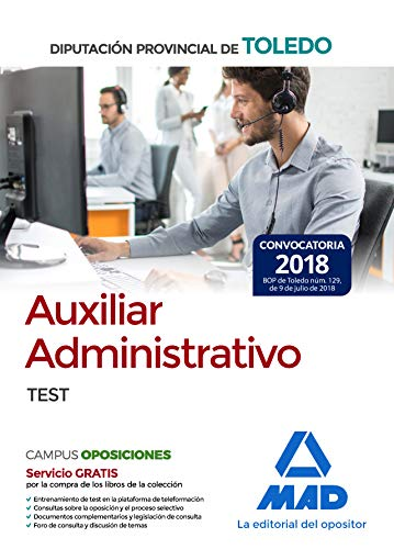 Auxiliar Administrativo de la Diputación Provincial de Toledo. Test