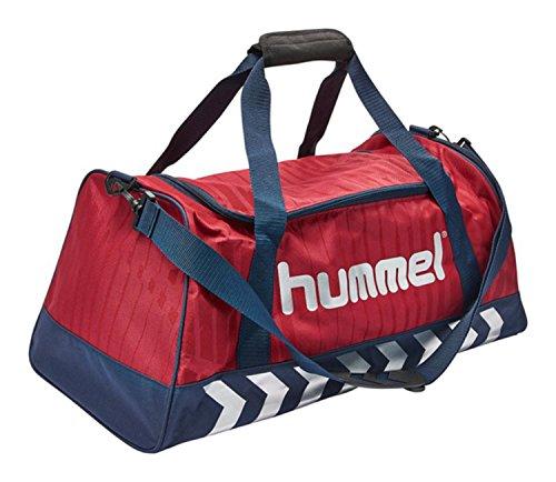 Hummel Sporttasche - REFLECTOR SPORTSBAG AC - Trainingstasche Rot & Blau - Fitnesstasche mit Tragegurt - Tasche für Sport & Freizeit - Sportsbag mit Innentasche Tibetan Red