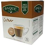 Cafés Baqué Cápsulas Compatibles Dolce Gusto Cortado - 60 gr - [Pack de 4]