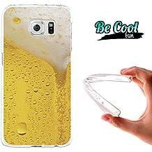 Becool® Fun - Funda Gel Flexible para Samsung Galaxy S6 .Carcasa TPU fabricada con la mejor Silicona, protege y se adapta a la perfección a tu Smartphone y con nuestro diseño exclusivo Cerveza rubia