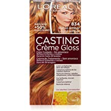 L'Oréal Casting Crème Gloss Color cuidado. Sin amoníaco, Tono: 834 Rubio Ámbar - 600 ml