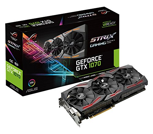 ASUS STRIX-GTX1070-O8G-Gaming Nvidia Geforce GTX 1070 Graphics Card - Black Test
