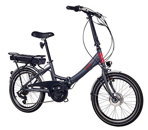 Telefunken E-Bike Klapprad Elektrofahrrad Alu, grau, 7 Gang...
