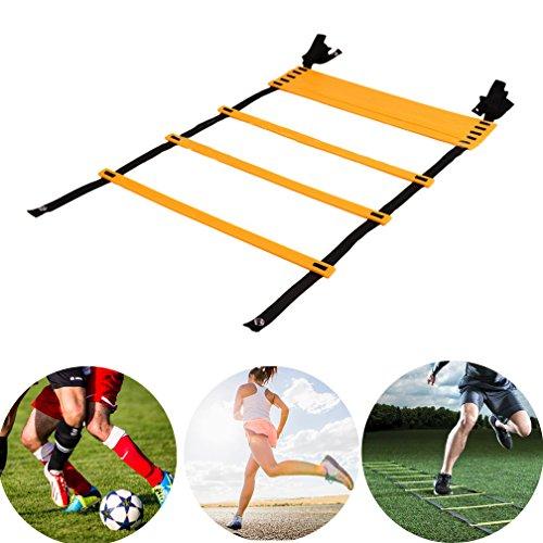 Doubletwo 6m 12 Rung Sport Koordinationsleiter Agility Leiter Trainingsleiter Dauerhafte Fußball mit Tasche