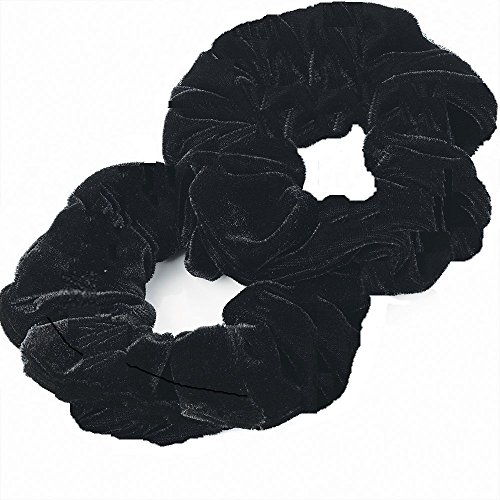 Lot de 2 chouchous en velours Aadya ATL Extra large de 15 cm pour cheveux ébouriffés, chouchous pour cheveux ébouriffés (26 couleurs différentes)