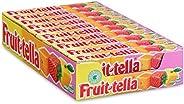 Fruittella Summer Fruit, zachte snoepjes – grootverpakking met 20 rollen: natuurlijke smaken en kleurstoffen,