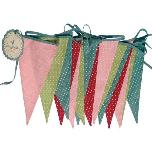 dotcomgiftshop Colourful Spotty Double Sided Cotton Bunting (8 Metres, 15 Pennants)