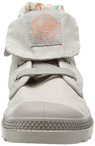 Palladium Baggy Lp Tw P F, Baskets Hautes Femme Gris (D30 Silver Cloud/Gray)