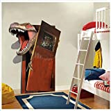 LXHLXN Cartoon 3D Dinosaurier PVC Gebrochene Wandaufkleber Für Wohnzimmer Home Wall Art Decor DIY Removable Decals Kinder Geschenk