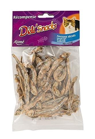 AIME Friandise Poissons Sèches 50 g pour Chat - Lot de 10