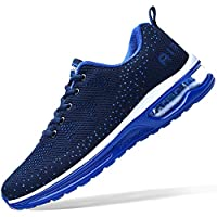 Mens Air Athletic Running Tennis Shoes Lightweight Sport Gym Jogging Walking Sneakers(Navy US11)
