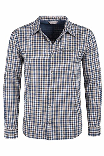 Mountain Warehouse HOLIDAY Langarm-Herren-Shirt Petrolblau