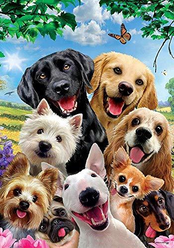 YEATRY Decoración Personalizada Perros Selfie - Jardín