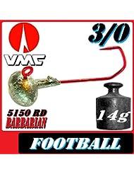 VMC anzuelos anzuelos plomados Football Huevos de tamaño 3/014g 5unidades en Set Relax kopyto Stint Shad keitech