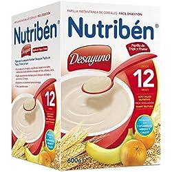 Nutriben Desayuno Papilla de Trigo y Fruta 600g.