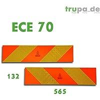 2x arrière marquage 564X 132d'alerte ECE 70.01autocollants Réflecteur Camion szm Truck x