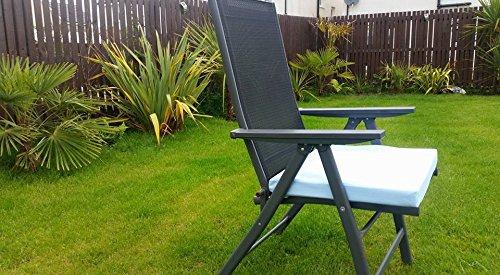HomeZone® 50 cm x 45 cm résistant à l'eau Fauteuil de luxe et meubles de terrasse rembourré Coussin meubles de jardin Pad carré intérieur/extérieur (2, Bleu)