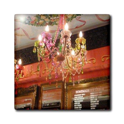 3dRose CT 174207_ 6Bild von Girly Pink Boca Raton Florida Chandelier-Glass Fliesen, 6