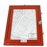 Feldbuchrahmen DIN A4 - Kunststoff - rot Test