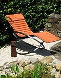 Leco 39398115, Cuscino per sedia a dondolo in poliestere 100%, colore: Terracotta