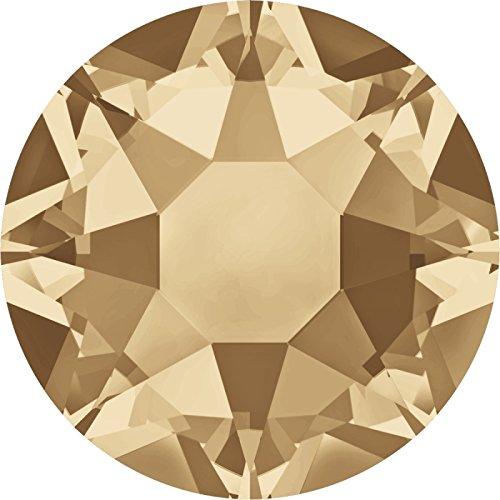 100 Stück SWAROVSKI ELEMENTS 2078 XIRIUS Rose, Hotfix, Crystal Golden Shadow, SS16 (Ø ca. 4 mm), Strasssteine zum Aufbügeln