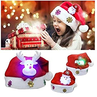 TAIPPAN – Gorros de Navidad con diseño de muñeco de Nieve y Papá Noel