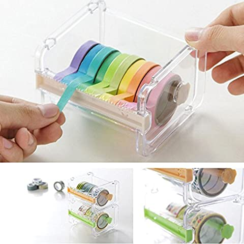 Tiptiper Desktop Transparent Tape Dispenser Cutter Cutting Tapes Aufkleber Aufbewahrungsbox Box Halter