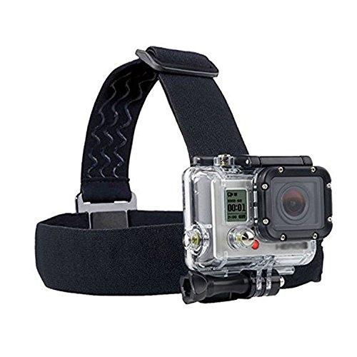 Action cam Kopfbandhalterung-Kopfgurt Head Strap für Gopro/ODRVM/apeman/Akaso/vtin/icefox/SJ4000/qumox/WIMIUS/DBPOWER/Vemont/CAMKONG/Campark/Victure/Crosstour/Apeman A70/Apeman A80/Akaso Actioncam
