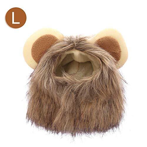 Leegoal Löwenmähne für Kleine Hunde und Katzen, Hund Löwe Kostüm Verstellbare Löwe Perücke Weihnachten Halloween Kleidung Festival Dress Up