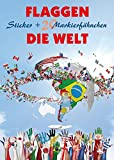 Flaggen Aufkleber - Die Welt: Sticker + 20 Markierfähnchen (freytag & berndt Bücher + Specials)