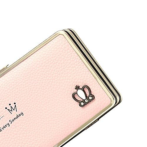 Portafogli da Donna Borsa con Foglia d'albero, Sunroyal Multifunzionale [Grande capacità] Smartphone Wristlet Custodia Case Cover per Sony Xperia XA1, Sony xperia x compact, Sony xperia xz premium, So Modello 28