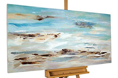 KunstLoft® cuadro acrílico 'Oleaje amanecer' 140x70cm