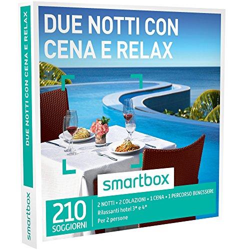 Smartbox cofanetto regalo - due notti con cena e relax - 210 soggiorni di gusto e benessere in b&b e hotel 3* o 4*