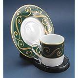 Expositor: taza y plato plástico soporte