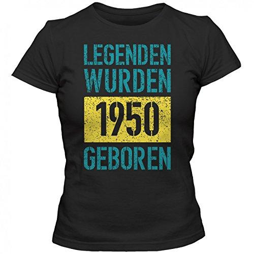... Happenz Schwarz (Deep Black L191). Legenden 1950 #1 T-Shirt | Jahrgang  50 | 67.Geburtstag | Geschenkidee