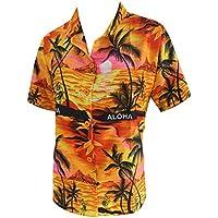 donne beachwear regalo pulsante fino camicia camicia hawaiana collare maniche corte signore di colore arancione