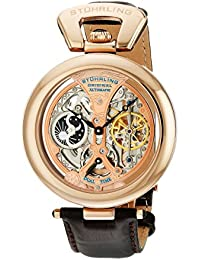 Stührling Original 127A.334553 - Reloj analógico para hombre, correa de cuero, color negro