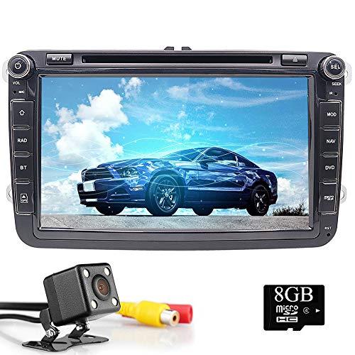 20,3cm WinCE 6.0doppio DIN autoradio per VW Tiguan Golf Passat Skoda Seat con navigatore GPS di lettore DVD radio Bluetooth supporto telecamera per parcheggio controllo del volante 1080p video