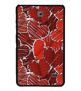 Hearts 2D Hard Polycarbonate Designer Back Case Cover for Samsung Galaxy Tab 4 :: Samsung Galaxy Tab 4 T231