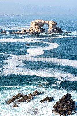 "Leinwand-Bild 40 x 60 cm: ""Arch Rock Formation in La Portada National Reserve"", Bild auf Leinwand"
