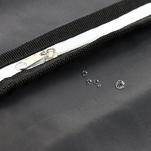 Bolso de traje / bolsa de vestir negro 105 x 60 cm - Funda impermeable de la capa Transpirable plegable - Correa de hombro y asas de transporte y almacenamiento - Viajes de negocios - Bolso de la ropa