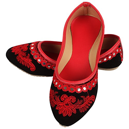 DFR Women's Velvet Juti, 7(Red, 4300038)