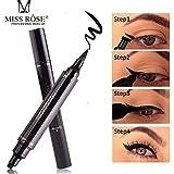 Miss Rose Dual Eyeliner Pen And Winged Stamp, Black