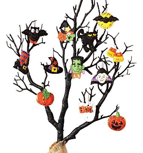 Bucilla Filz-Applikation-Ornament-Bastelset in verschiedenen saisonalen Stilen, Mehrfarbig, 29.84 x 22.86 x 3.55 cm