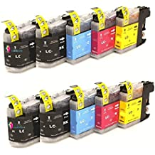 Bramacartuchos - 10 x Cartuchos compatibles para Brother Lc121 Lc123 XL LC123 con Brother DCP-J132w, DCP-J152W, DCP-J552DW, DCP-J752DW, DCP-J4110dw, MFC-J470DW, MFC-J650DW, MFC-J870DW, MFC-J4410dw, MFC-J4510dw, MFC-J4610dw, MFC-J4710dw, MFC-J6520, MFC-J6720dw, MFC- J6920DW -